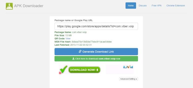 Download Apk file
