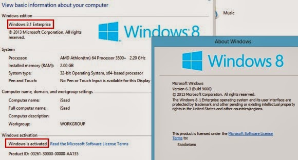 Activate Windows 8.1
